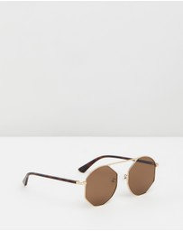 McQ by Alexander McQueen - MQ0 Gold Sunglasses