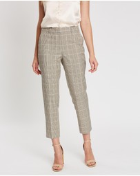 Dorothy Perkins - Light Check Ankle Grazer Pants