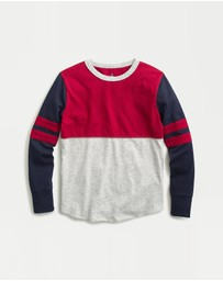 J.Crew - Long Sleeve Sport Stripe Football T-Shirt - Kids