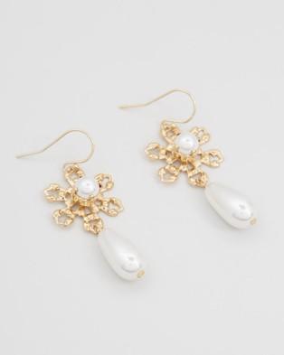 Nikki Witt Amy Earrings - Jewellery (Gold)