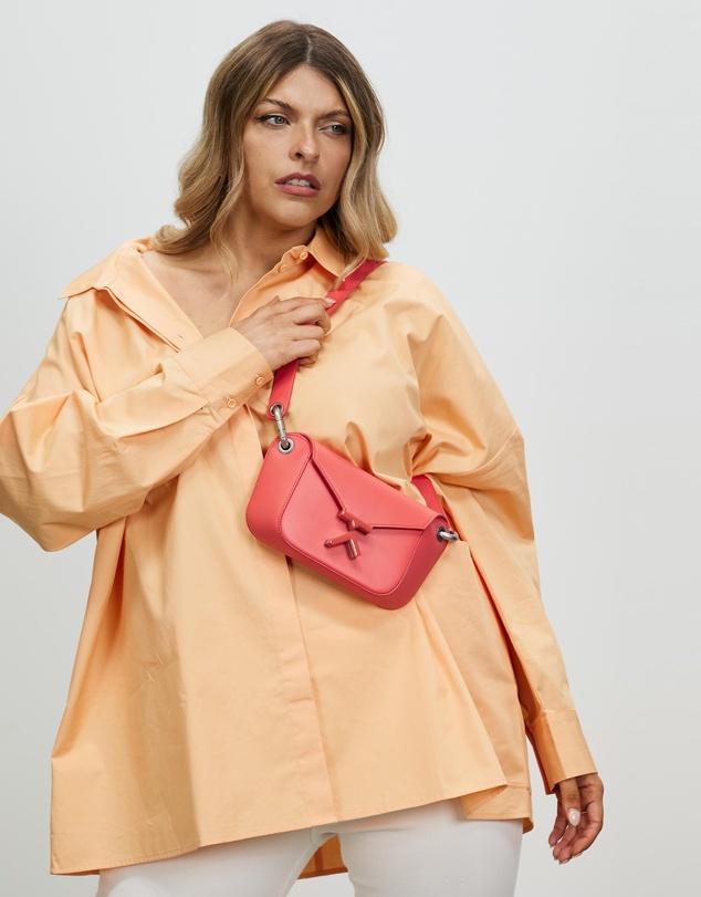 Women K Leather Belt Bag