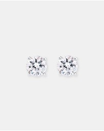 Elli Jewelry -  Earrings Classic Swarovski® Crystal 925 Sterling Gold Plated