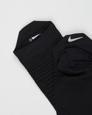 Nike Spark Lightweight Socks No Show Black & Reflective
