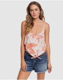 Roxy - Womens Become The One Strappy Buttoned Crop Top