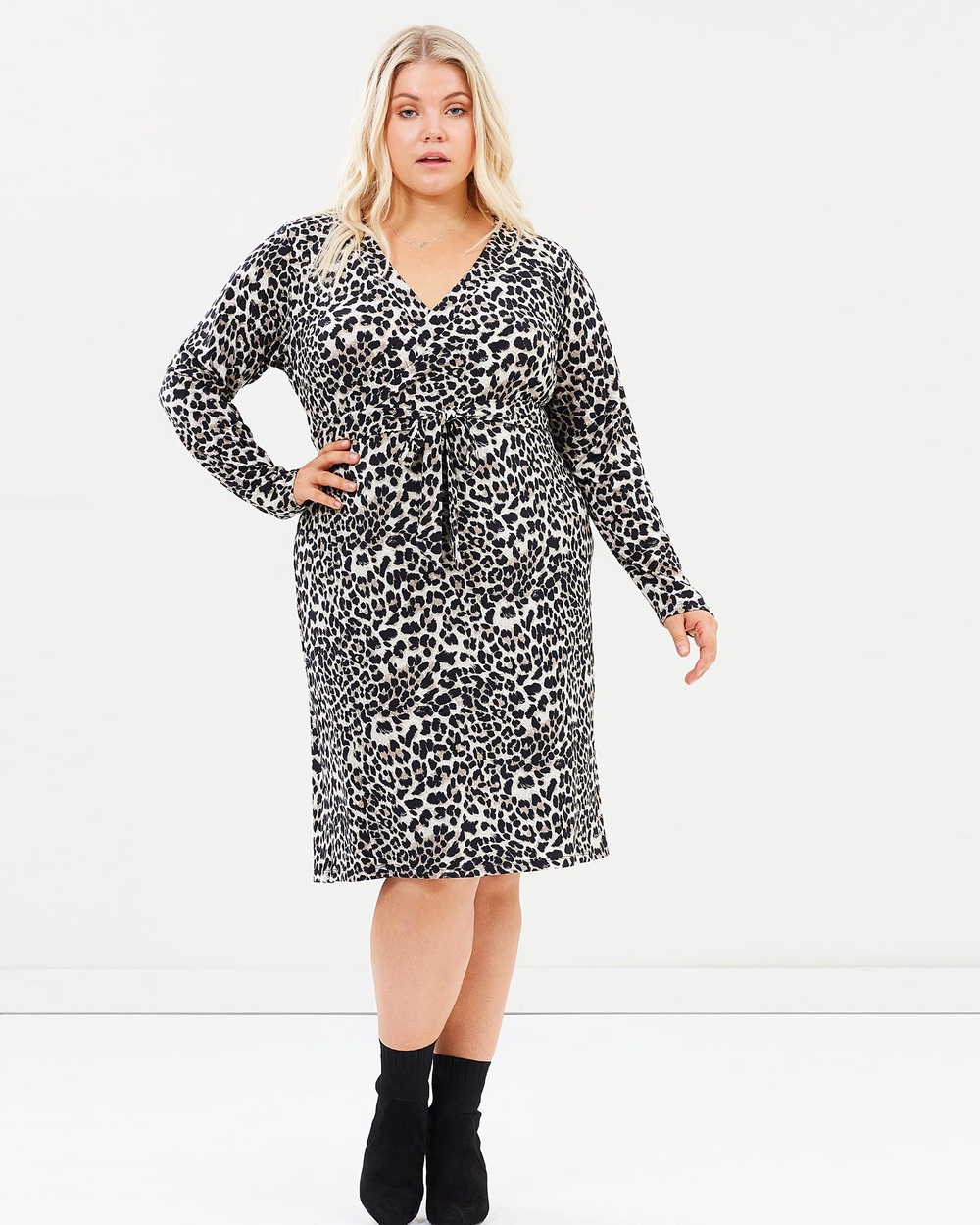 Harlow Leopard All Fired Up Wrap Dress