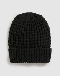 French Connection -  Waffle Knit Beanie