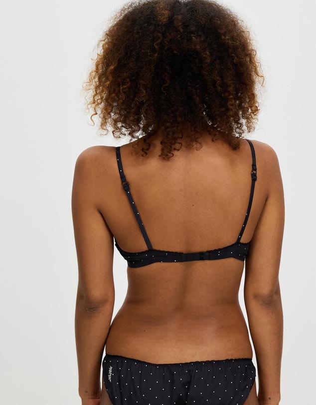 Women Woven Cotton Triangle Bra
