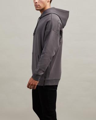 BOSS Large Rear Logo Hoodie - Hoodies (Grey)