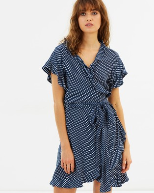 MLM – Indra Wrap Dress – Dresses (Orb Polka)