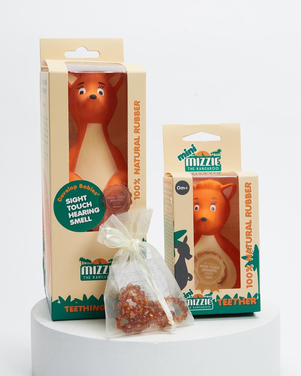 Mizzie The Kangaroo Teething Rescue Gift Set All toys Orange Australia