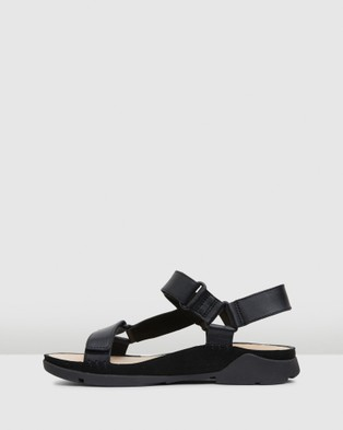 Clarks Tri Sporty - Sandals (Black Leather)