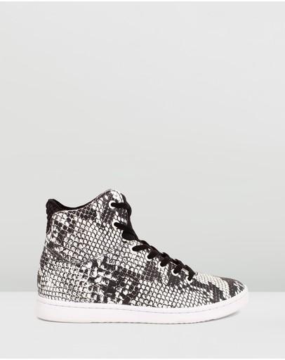 Woden Jane Boot Sneakers Black & White