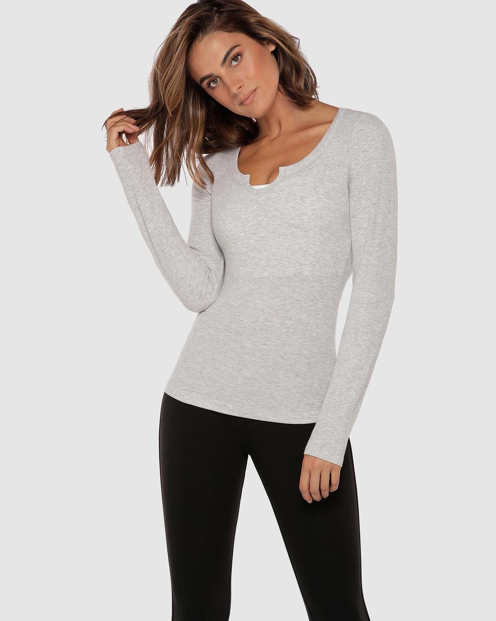 Lorna Jane - Serene Long Sleeve Top - Long Sleeve T-Shirts (Light Grey Marle) Serene Long Sleeve Top
