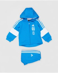 adidas Performance - Logo Hooded Fleece Jogger Set - Babies