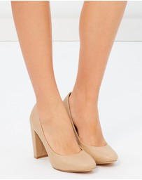 SPURR - ICONIC EXCLUSIVE - Olive Block Heel Pumps