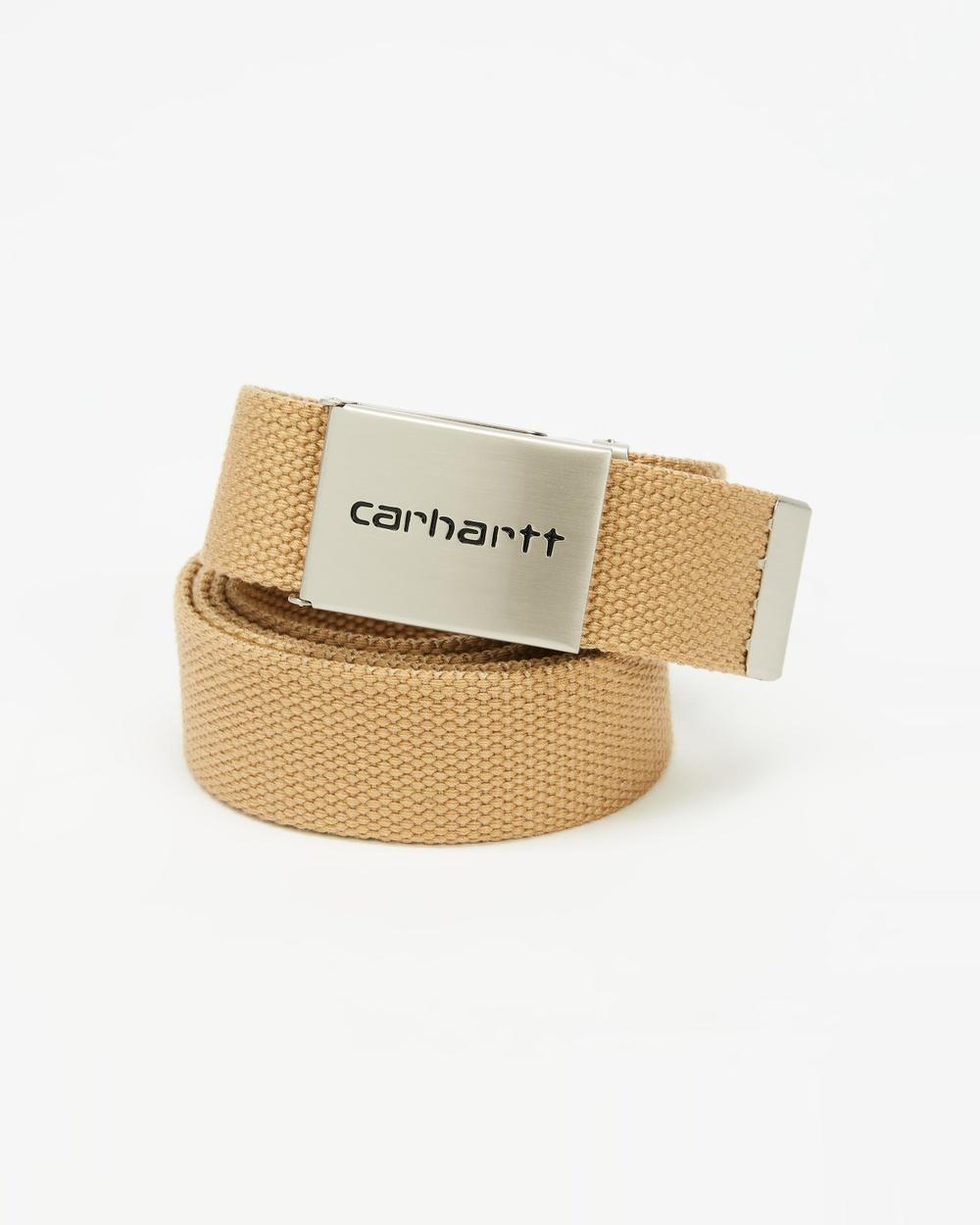 Carhartt Chrome Clip Belt Belts Dusty Hamilton Brown