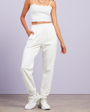 Dazie Keep It Up Sweat Pants - Sweatpants (Cream)