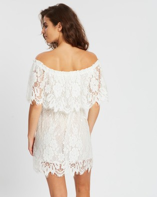 Homebodii Juannie Lace House Dress - Dresses (White)