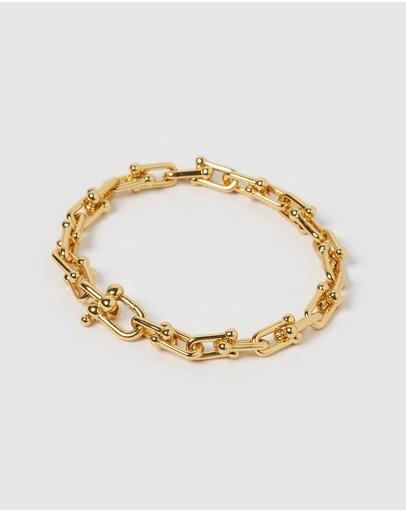 Izoa Vienna Link Bracelet Gold