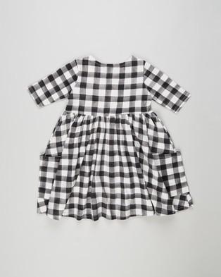 Rock Your Kid Gingham Faye Dress   Kids - Dresses (Black & Cream)