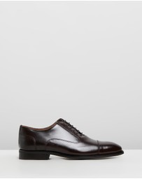 REISS - Reston Leather Oxford Toe Cap Shoes