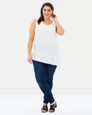 Advocado Plus Modest Sleeveless Top - Tops (White)