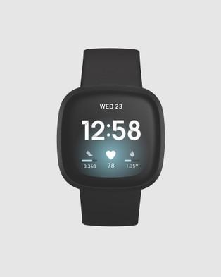 Fitbit Fitbit Versa 3 Black - Fitness Trackers (Black)