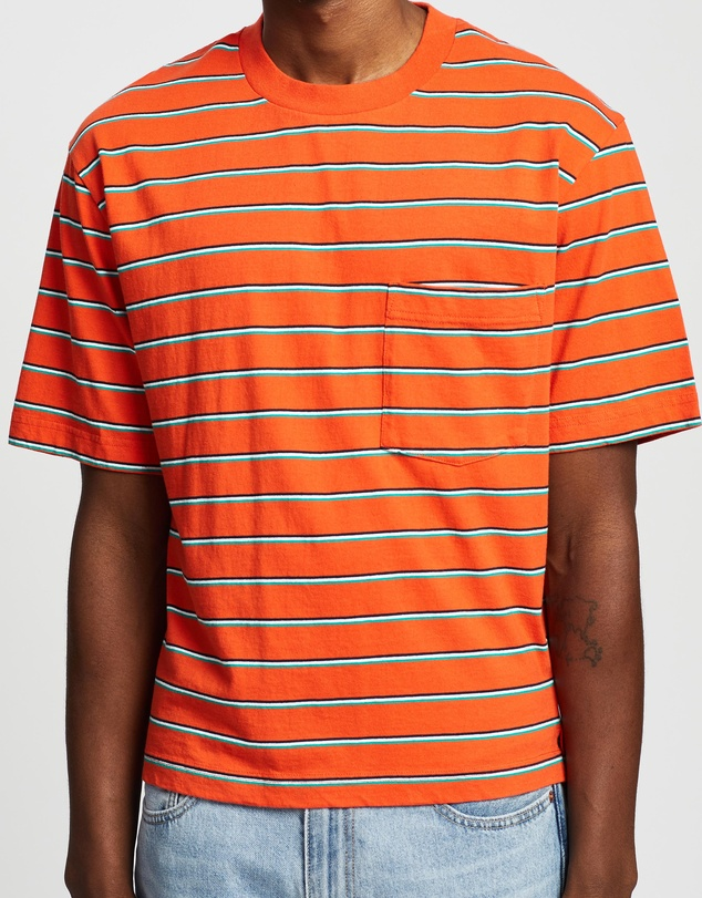 Mens Vintage Shirts – Casual, Dress, T-shirts, Polos SS Retro Stripe Tee  AT vintagedancer.com