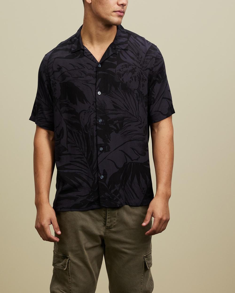 AllSaints Lanai SS Shirt Casual shirts Washed Black