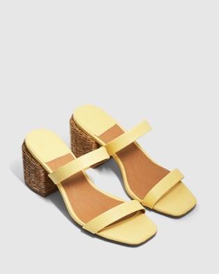 cherrichella Whisper Mules - Heels (Lemon)