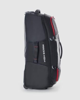 High Sierra Composite 84cm Wheeled Duffle - Travel and Luggage (Black)