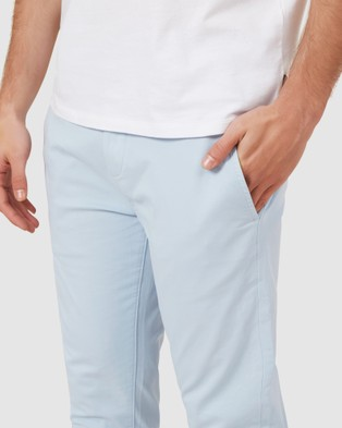 French Connection Slim Fit Stretch Chino Pants - Pants (PALE BLUE)