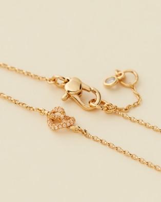 Kate Spade Loves Me Knot Pave Bracelet - Jewellery (Clear & Gold)