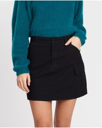 All About Eve - Washed Out Utility Skirt