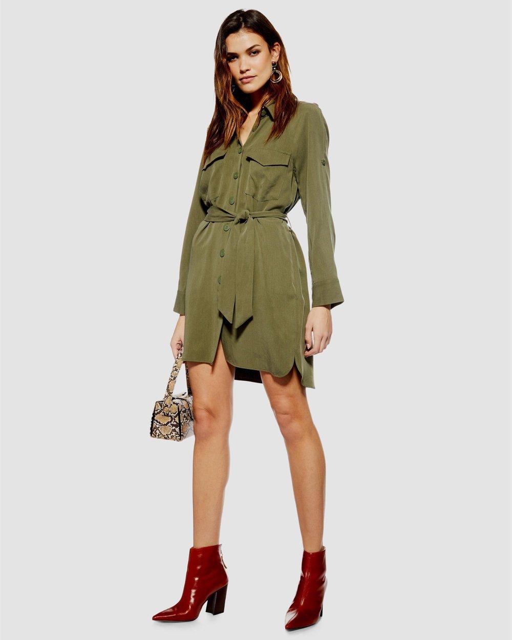 270b959cb7 Utility Mini Shirt Dress by TOPSHOP Online | THE ICONIC | Australia
