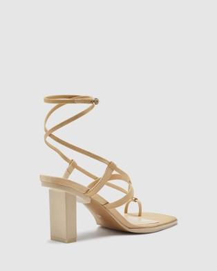 Oxford Emelisse Knot Toe Heels - Heels (Brown)