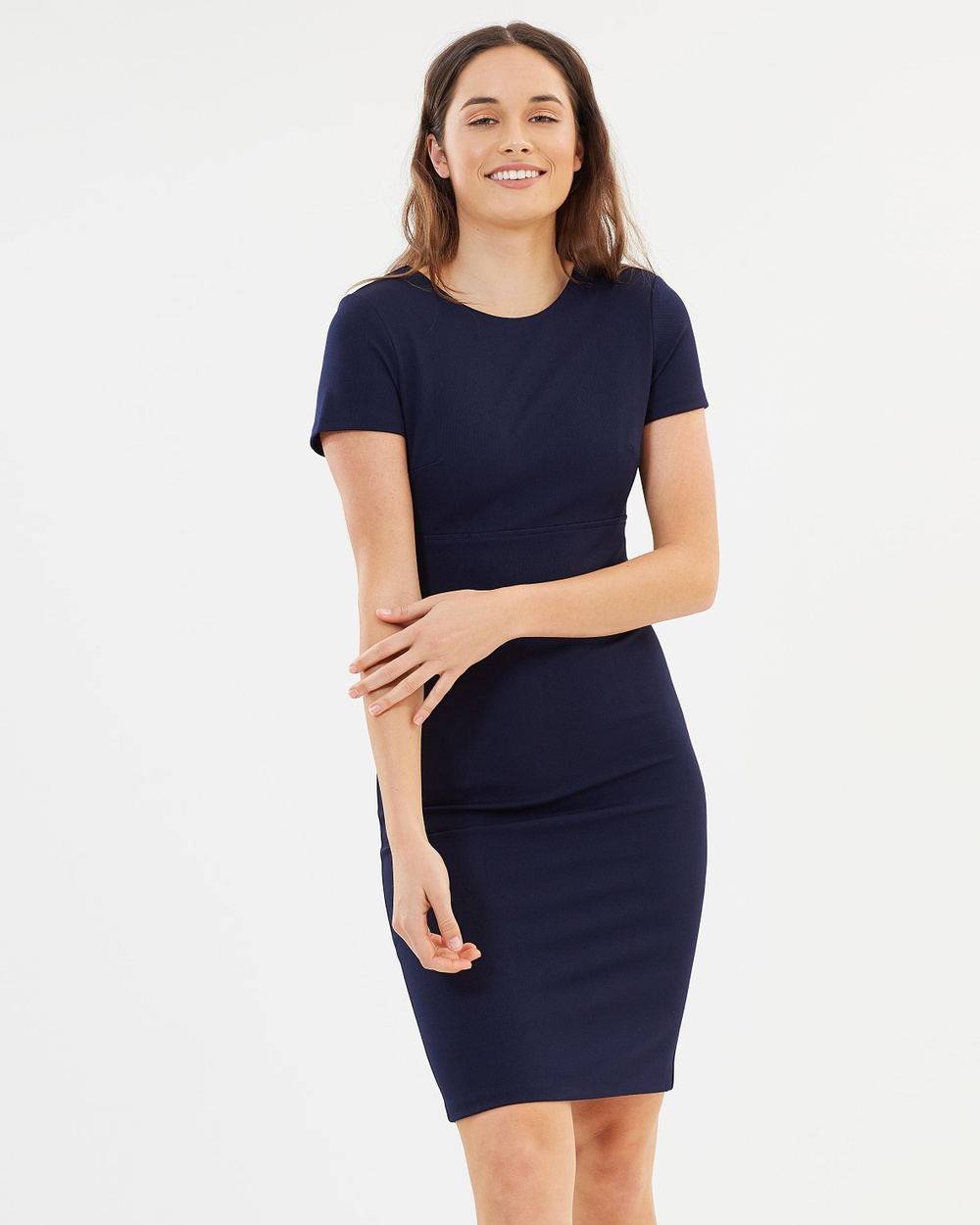 Dorothy Perkins Waistband Pencil Dress Dresses Blue Waistband Pencil Dress