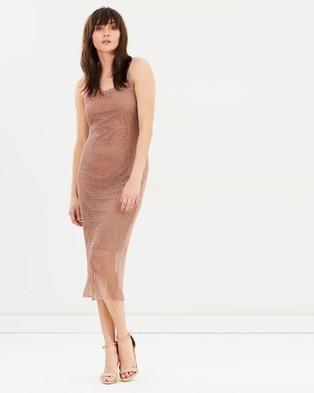 We Are Kindred – Steel Magnolia Singlet Dress – Dresses (Metallic Mesh)