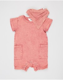 Cotton On Baby - Bundle Alby Playsuit & Bib - Babies
