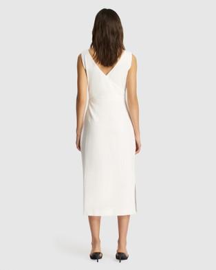 FRIEND of AUDREY Lyly Linen Wrap Dress - Dresses (White)