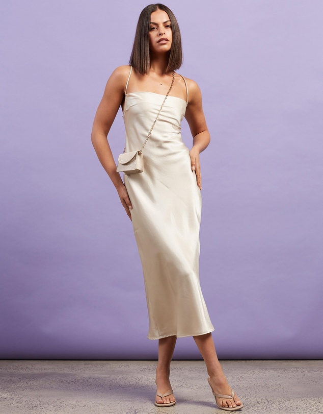 Dazie - Nights In Paris Silky Slip Dress