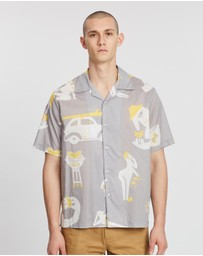 Band of Outsiders - Printed Short Sleeve Summer Shirt