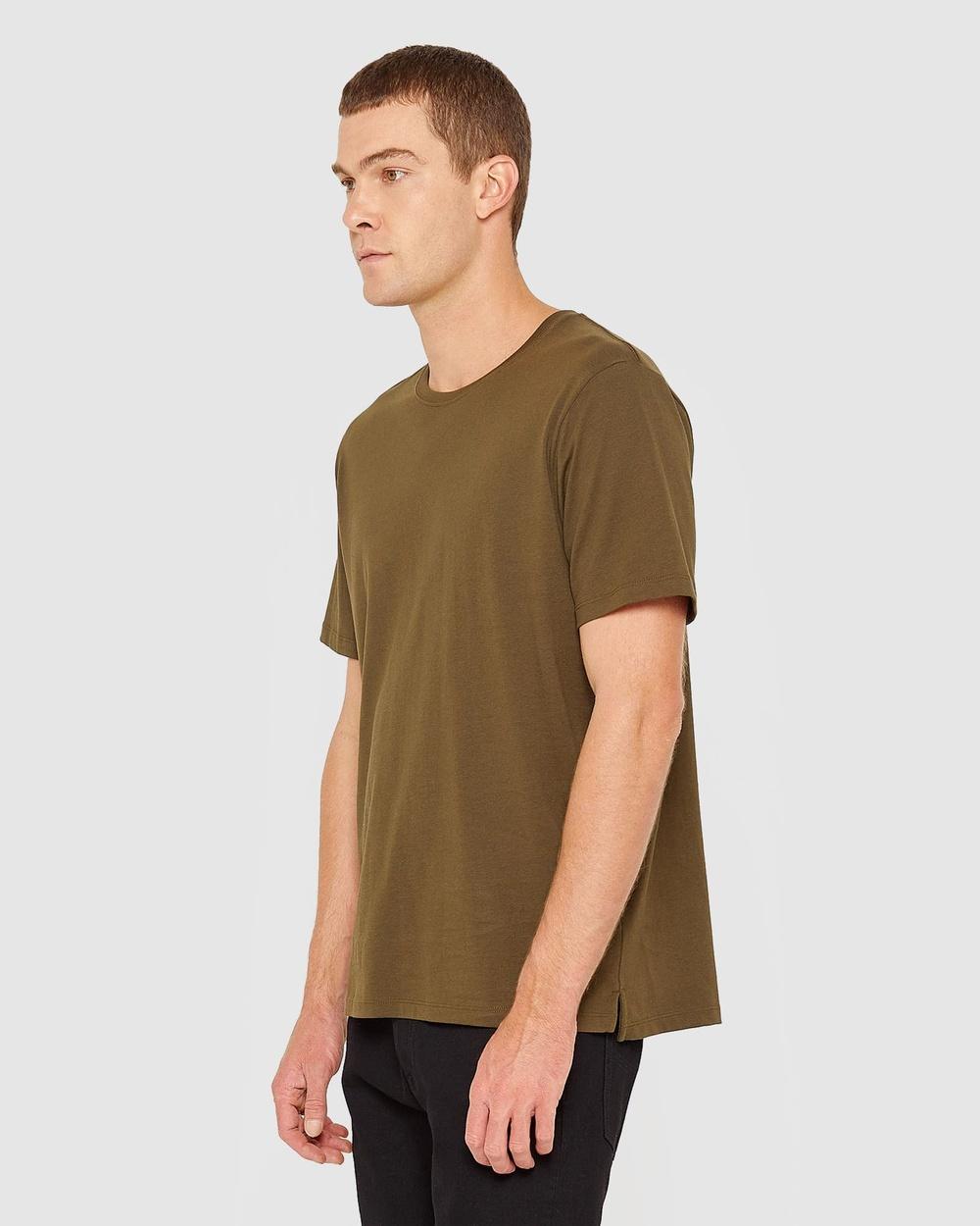 Jag - Organic Split Tee - T-Shirts & Singlets (Khaki) Organic Split Tee