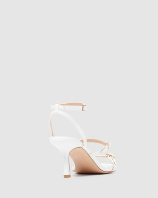 Forever New Dolly Buckle Low Stiletto - Heels (White)