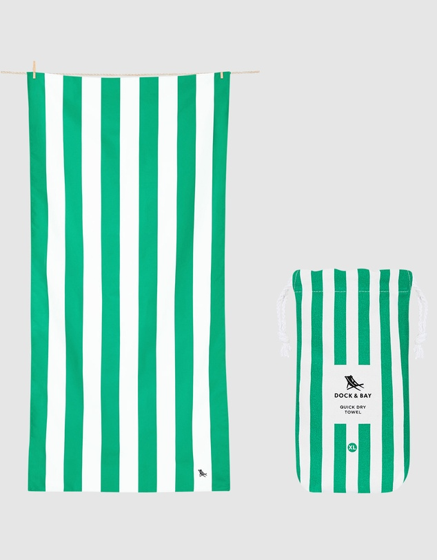 Life Extra Large Beach Towel 100% Recycled Cabana Collection