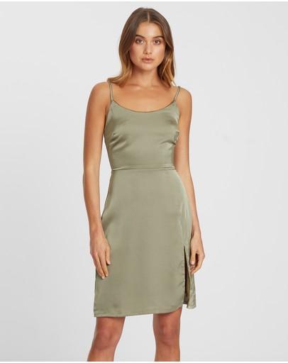 Chancery Beau Slip Dress Olive