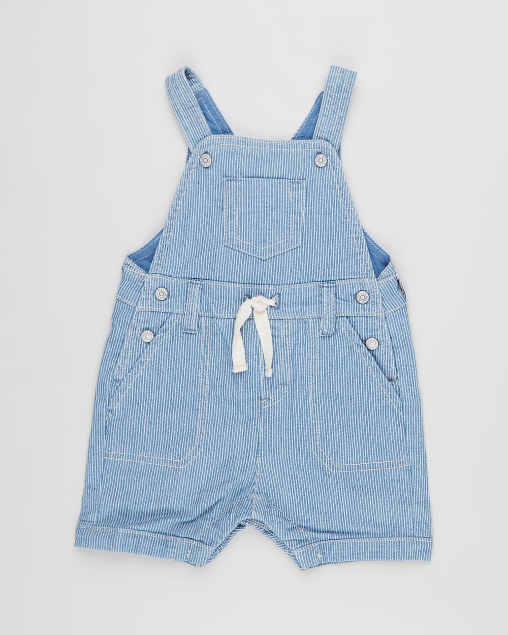 Bebe by Minihaha Oscar Denim Stripe Overalls Babies Jumpsuits & Playsuits Indigo