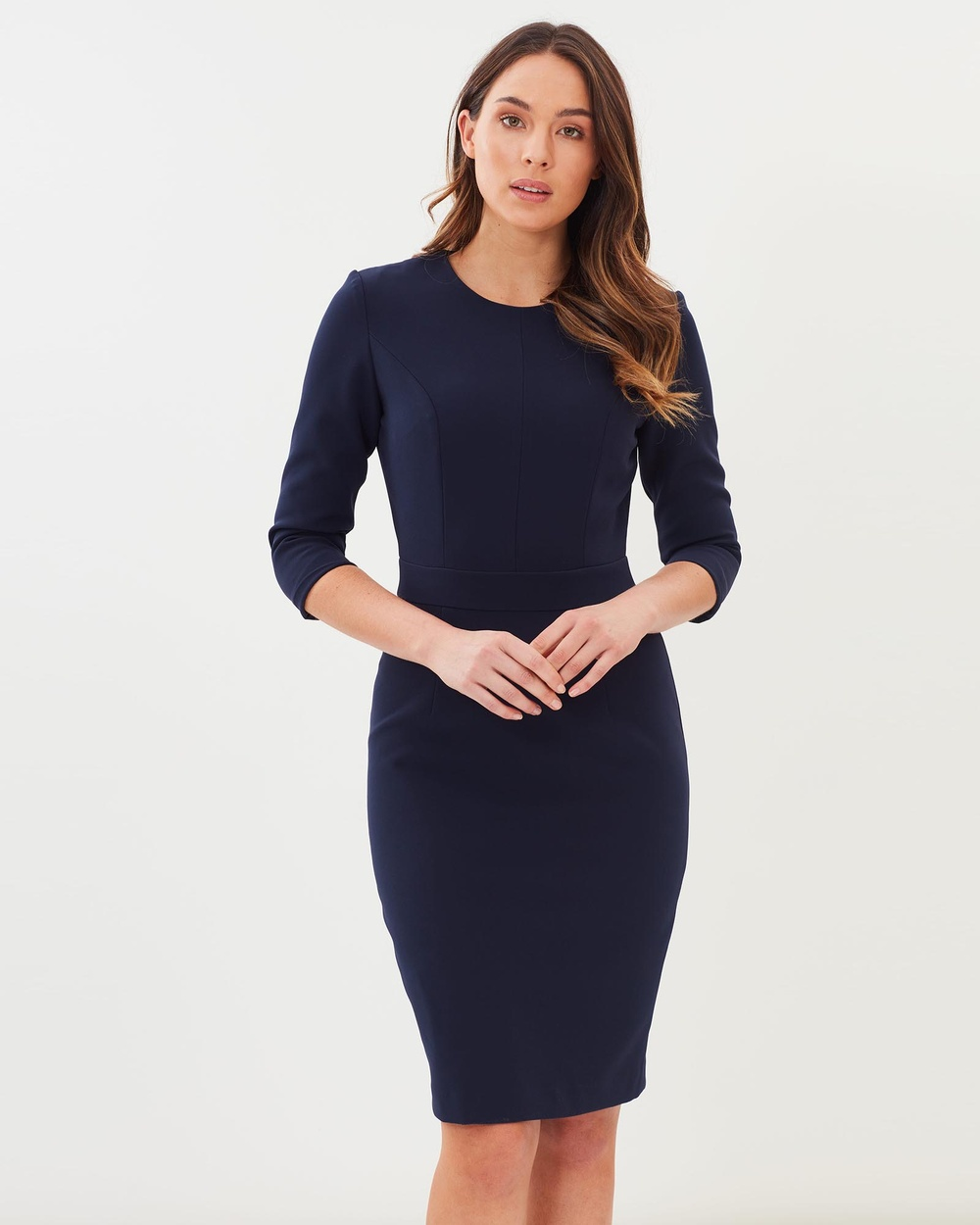 Farage Emeline Dress Dresses Navy Emeline Dress