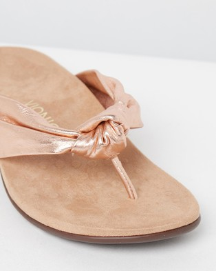 Vionic Pippa Toe Post Sandals - All thongs (Rose Gold)