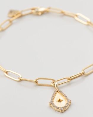 Wanderlust + Co Teardrop Star Gold Bracelet - Jewellery (Gold)
